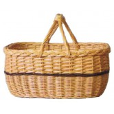 Panier hollandais osier double anses