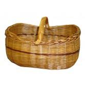 La Vannerie d'Aujourd'hui - Panier bateau de forme ovale en osier buff et teinté
