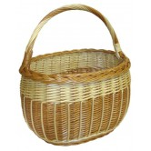 Panier gondole filet osier blanc/buff