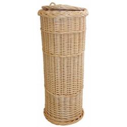 La Vannerie d'Aujourd'hui - Huche à pain ronde osier blanc