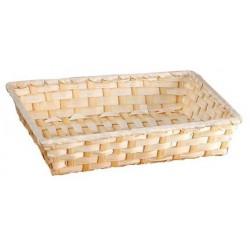 La Vannerie d'Aujourd'hui - Corbeille en bambou blanc