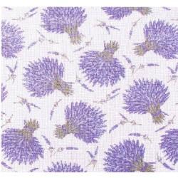 Rideau de porte en coton, motif bouquet de lavande.