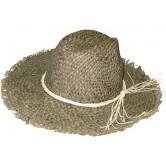 Chapeau en jonc pour homme avec ruban en ficelle
