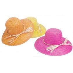 Chapeau femme palmier couleurs