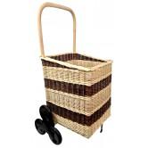 La Vannerie d'Aujourd'hui - Chariot à bois spécial escalier en osier 2 tons, 6 roues