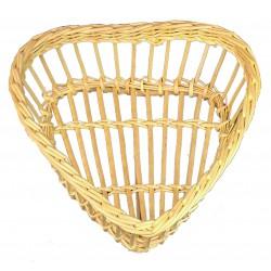 Corbeille à pain ajourée GM forme coeur en osier