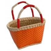 La Vannerie d'Aujourd'hui - Cabas enfant, feuille de palmier orange