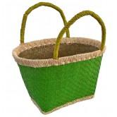La Vannerie d'Aujourd'hui - Cabas pour enfant, feuille de palmier vert