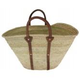 La Vannerie d'Aujourd'hui - Couffin en palmier, anses et tour en cuir