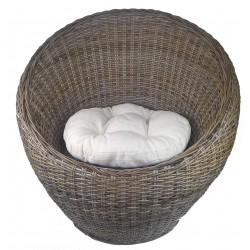 fauteuil boule en poelet gris. Black Bedroom Furniture Sets. Home Design Ideas
