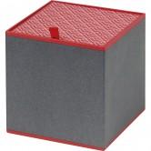 Coffret carré gris et rouge