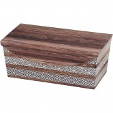 Coffret rectangle marron effet bois