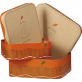 """Coffret carré décor """"Canard"""" orange/vert"""