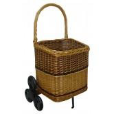 Chariot à bois carrée 6 roues