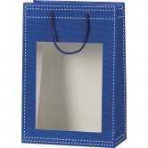 Sac en papier bleu à fenêtre PVC