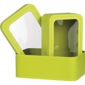 Coffret rectangle vert anis à fenêtre PVC