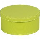 La Vannerie d'Aujourd'hui - Coffret rond en carton coloris vert anis