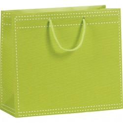 Sac en papier vert anis