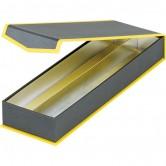 Coffret rectangulaire 2 rangées gris/jaune
