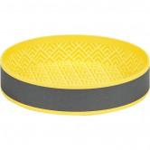 Corbeille ronde gris/jaune