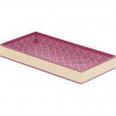 La Vannerie d'Aujourd'hui - corbeille rectangle décor kraft et motifs roses