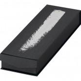 Coffret rectangle à 2 rangées noir/argent