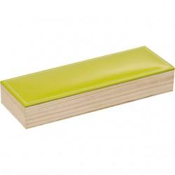 La Vannerie d'Aujourd'hui - Coffret rectangulaire, couvercle simili cuir vert