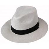 Chapeau Panama Blanc Cassé