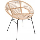 Fauteuil en rotin naturel design Dolly