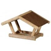 La Vannerie d'Aujourd'hui - Mangeoire à oiseaux en bois, toit en Shingle