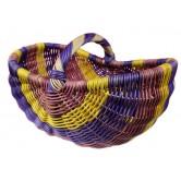 La Vannerie d'Aujourd'hui - Panier en rotin parme, jaune et violet