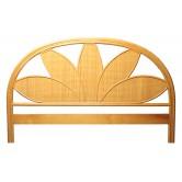 DESTOCKAGE !! Tête de lit en rotin et cannage coloris miel, 140 cm, motif palmier