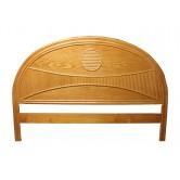 DESTOCKAGE !! Tête de lit en bois, coloris naturel, 140 cm, motif soleil levant