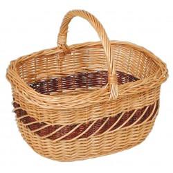 La Vannerie d'Aujourd'hui - Panier Lucette en osier buff avec filet brun
