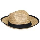 La Vannerie d'Aujourd'hui - Chapeau bandeau et contour tissu noir