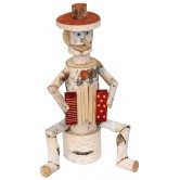 La Vannerie d'Aujourd'hui - Personnage accordéoniste en bouleau