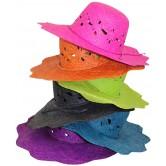 La Vannerie d'Aujourd'hui - Chapeau pour femme en raphia, bordure vague