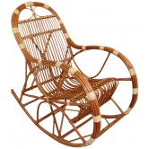 La Vannerie d'Aujourd'hui - Rocking chair adulte en osier buff