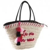 """La Vannerie d'Aujourd'hui - Sac en fibre de ma¨s """"La vie en rose"""""""