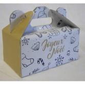 Boite lunch carton joyeux noël