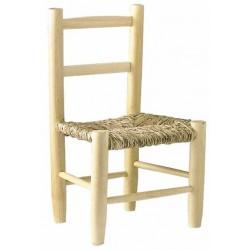 Chaise enfant paille bois naturel