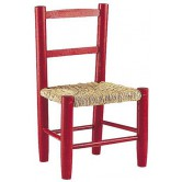 Chaise enfant bois/paille