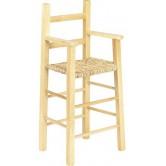 Chaise haute enfant bois naturel