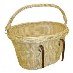 Panier vélo osier blanc