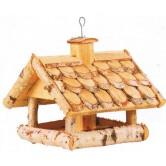 La Vannerie d'Aujourd'hui - Mangeoire distributeur de graines toit en tuiles