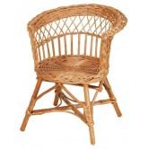 La Vannerie d'Aujourd'hui - Fauteuil pour enfants en osier, assise ronde