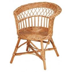 Fauteuil enfant osier assise ronde