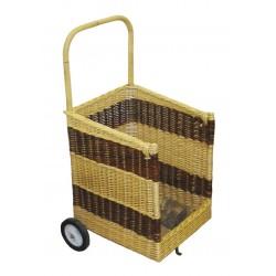 Chariot à bois carré ouv 2 roues