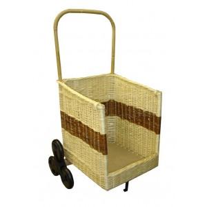 Chariot à bois 1/2 rond 6 roues