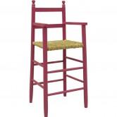 La Vannerie d'Aujourd'hui - Chaise haute pour enfant en bois framboise